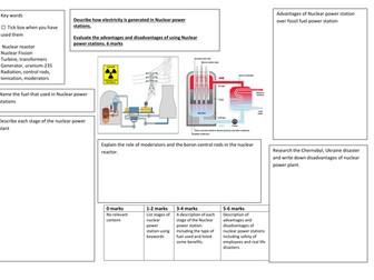 Nuclear Powerstations 6 mark QWC