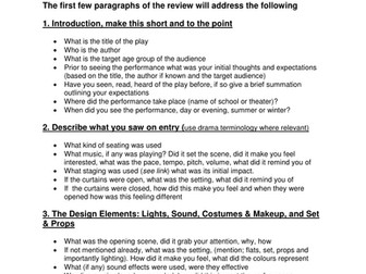how to write a drama review
