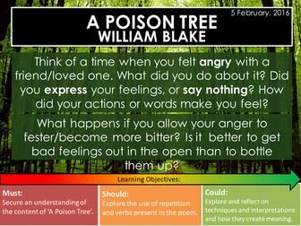 A Poison Tree - William Blake (Edexcel Conflict Poetry Cluster GCSE 1-9)