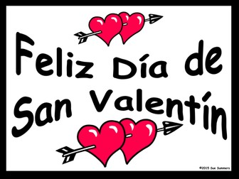 Spanish Valentine's Day 2 Free Classroom Signs
