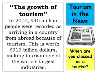 AQA Tourism FULL SCHEME OF LESSONS, RESOURCES AND REVISION MATERIALS