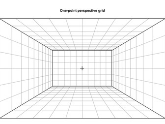 One Point Perspective Grid