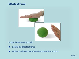 Force and Motion - Effects of Force
