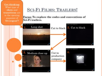 Sci-Fi Trailer PPT focusing on transitions and conventions