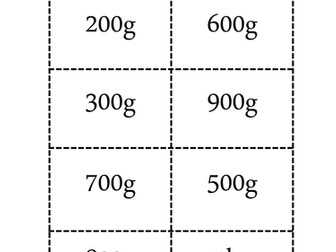 Weighing grams