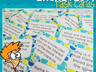 Excretion Task Cards