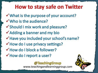Guide for teachers on how to use Twitter and stay safe