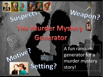 Creative Writing: Murder Mystery Generator