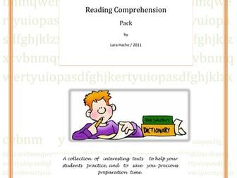 Reading Comprehension practice Pack.