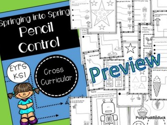 Springing into Spring Pencil Control for EYFS/KS1