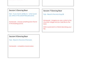 The Dancing Bear Guided Reading Planning