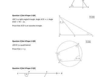 IGCSE Further Maths - Algebraic Proofs and Geometric Proofs