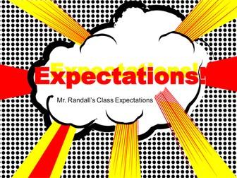 Expectations for Classroom Behaviour