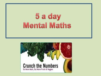 Mental Maths Daily Challenges