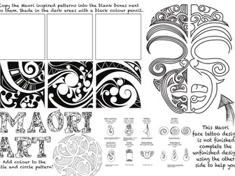 Maori Art Worksheet