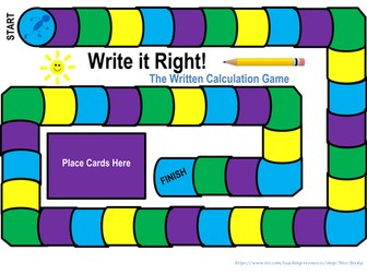 Write it Right - Written Calculation Game - Year 6 Maths - KS2 SATs Revision - Board Game Format