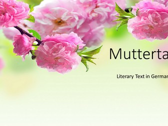 Muttertag - Mother's Day poem