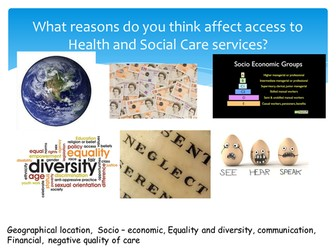 Barriers to Accessing Health and Social care L2