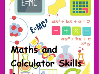Maths and Calculator Skills for Science Students inc. answers. UPDATED 13.05.16