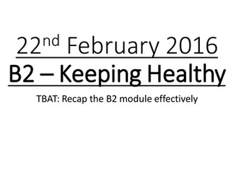 Complete 21st Century Science OCR B2 - Keeping Healthy