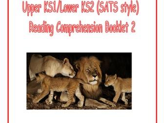 KS1/LKS2 SATS style Reading Comprehension Booklet 2