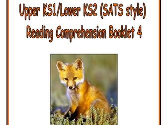 KS1/LKS2 SATS style Reading Comprehension Booklet 4