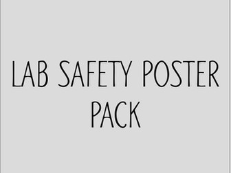 Lab Safety Rules poster pack