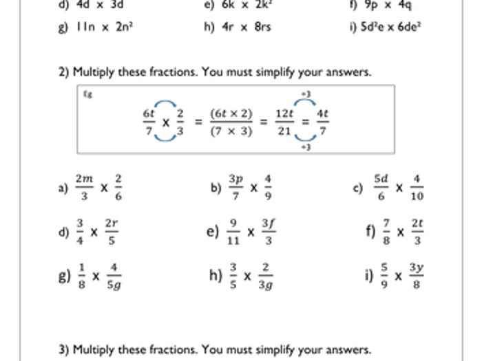 Multiplying Algebraic Fractions Worksheet – Multiplying Algebraic Fractions Worksheet