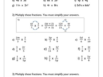 algebraic fractions math ideas t teaching resources algebraic fractions worksheet