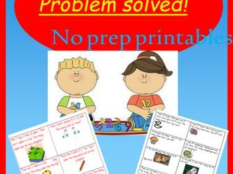 Problem solving?  Problem solved- No prep adaptable printables