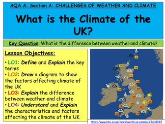 Challenges of Weather and Climate FULL SCHEME OF LESSONS AND RESOURCES