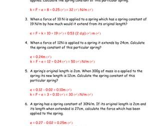 Elastic energy calculations