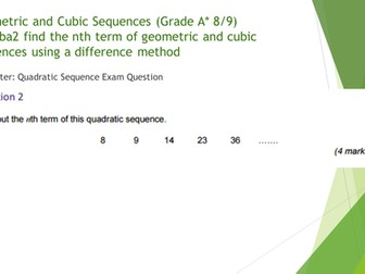 Cubic Sequences and Geometric Sequences