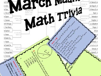 March Madness Math Game Cards