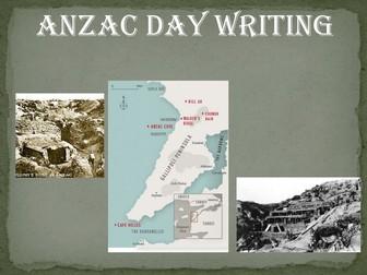 ANZAC Day - writing activity