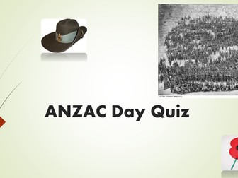 ANZAC Day - Quiz