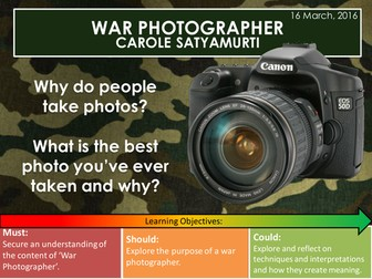 War Photographer - Carole Satyamurti (Edexcel Conflict Poetry Cluster GCSE 9-1)