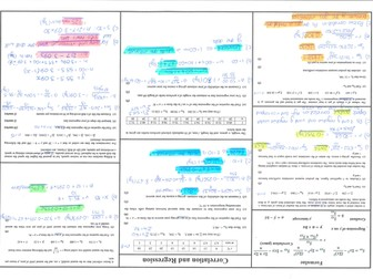 Statistics 1 - Correlation and Regression - Past Paper Questions