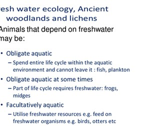 Freshwater and Woodland Ecosystems