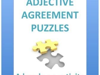 Spanish: Adjective agreement puzzles