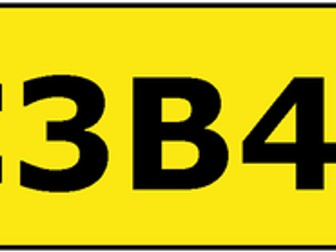 C3B4ME - independent learning number plate