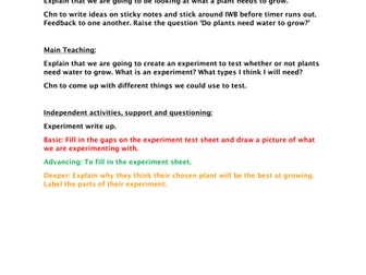 Year 1 Science Plants