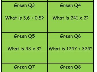 Y6 SATs Arithmetic revision treasure hunt