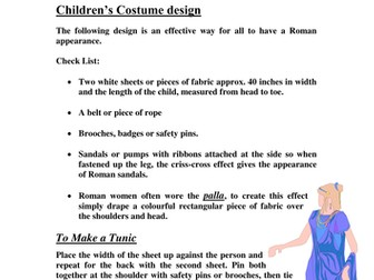 Roman Activity Resource Pack  for Primary Schools.