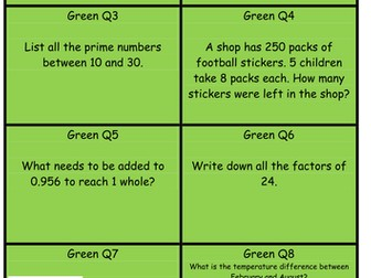 Y6 SATs revision: Reasoning treasure hunt