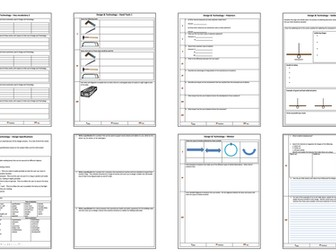 Differentiated Design & Technology worksheets.