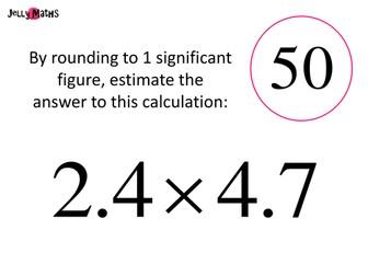 Estimating Calculations Loop Cards