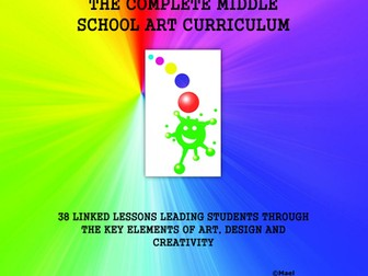 ART - The Complete Middle School Art Curriculum. Updated