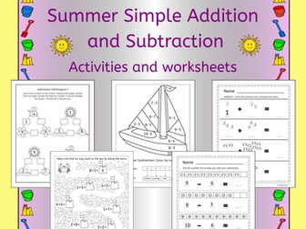 Summer Math - Addition and Subtraction
