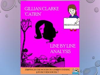catrin gillian clarke essay Catrin-gillian clarke analysis essaycatrin-gillian clarke gillian clarke's 'catrin' deals with the often tense but.